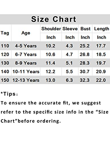 Arshiner Girls Casual Tunic Tops Long Sleeve Loose Soft Blouse T-Shirt for 4-13 Years 7