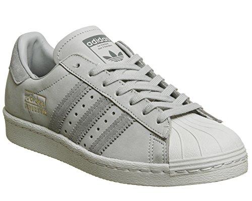 adidas Herren Superstar 80s Fitnessschuhe, Schwarz Grau (Mittelgrau)