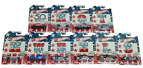 Hot Wheels 50th Anniversary Stars and Stripes Complete Set of 10