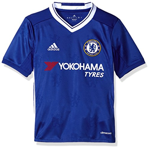 adidas Soccer Chelsea Youth Jersey, Small, Blue/White