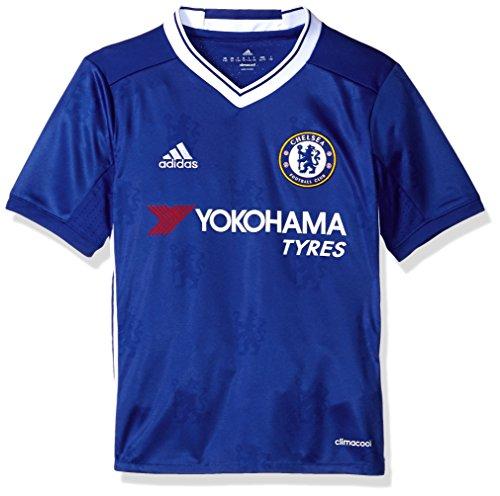 Football Club Jersey (Adidas Soccer Chelsea Youth jersey, Medium, Blue/White)