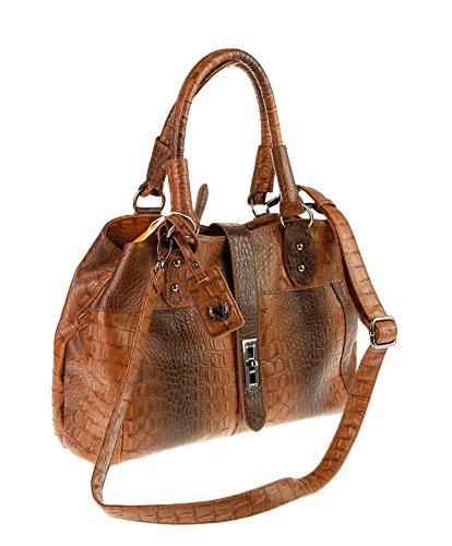 T dunkelbraun Valleverde à brune bandoulière femme pour moro sac ggwYqv8