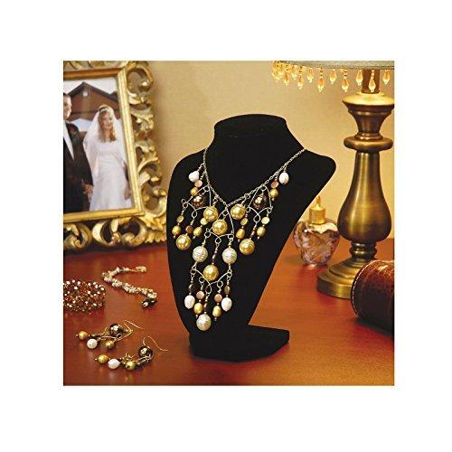 adorox black velvet necklace pendant chain jewelry bust