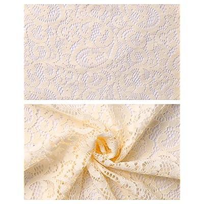 Aibrou Womens Short Sleeve Bolero Cardigans Lace Shrugs for Wedding Evening Dresses at Women's Clothing store