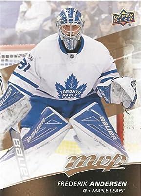 2017-18 Upper Deck MVP #186 Frederik Andersen Toronto Maple Leafs