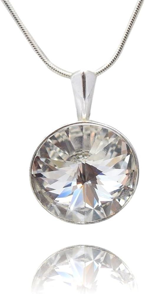 Crystals & Stones Rivoli – Colgante con cadena de plata de ley 925, con elementos originales de Swarovski® Elements, en estuche