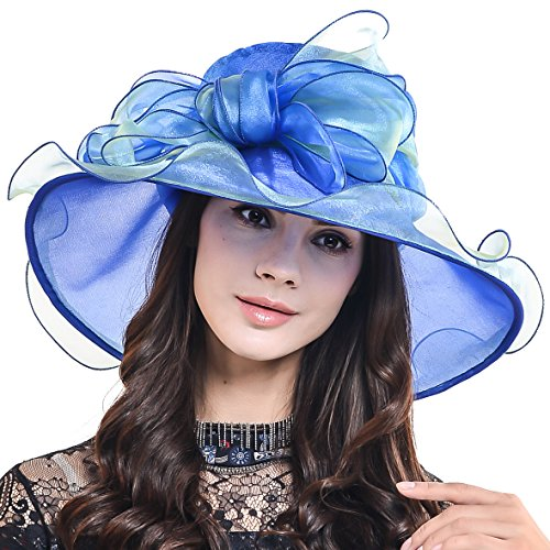 Women Church Hat Wide Brim Organza Derby Hat CS039 for sale  Delivered anywhere in Canada