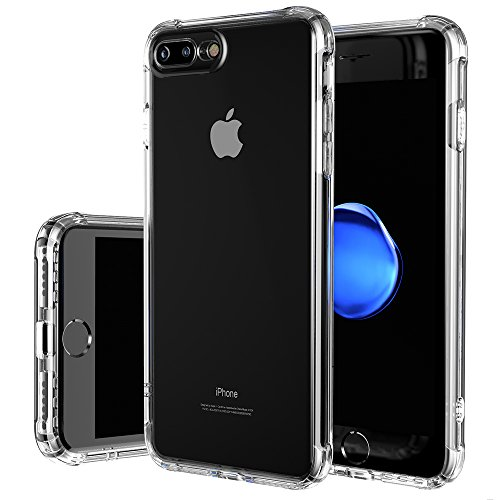 iPhone 8 Plus Case, iPhone 7 Plus Case, MMPGTech [Shock Absorption] Thinnest Soft TPU Bumper with Dust-Free Turn Sound Hole Clear Slim Fit Case - Crystal Clear by HZ BIGTREE