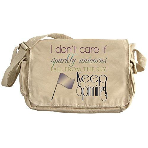 Directors Showcase Cotton - CafePress - Colorguard I Dont Care If Sparkly Unicorns Fall Fr - Unique Messenger Bag, Canvas Courier Bag