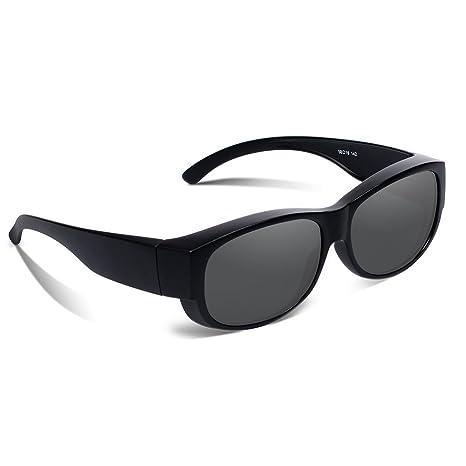 Ewin O01 Lunettes Polarisées, Lunettes de Soleil Prescription Fitover Styles Unisex pour Conduire, Faire du Cyclisme et Toutes les Activités de plein air (Marron Demi)