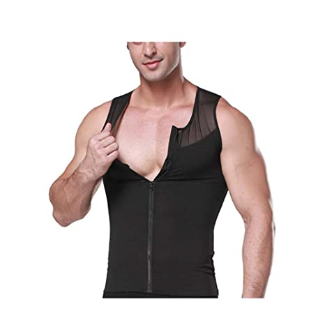 16eeab0a4fdb5 Rosie Men Body Shaper Compression Tank Top Slimming Vest Shapewear With  Zipper For Sport Workout Gym