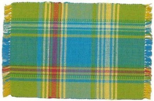 100% Cotton Blue Green & Yellow Plaid 12