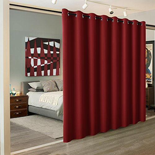 - RYB HOME Light Block Divider Curtain Extra Wide Room Divide Curtain Separate Wall for Share Apartment/Nursery/Home Theatre/Storage/Studio/Office, W 15ft x L 9ft, Burgundy Red, 1 Panel