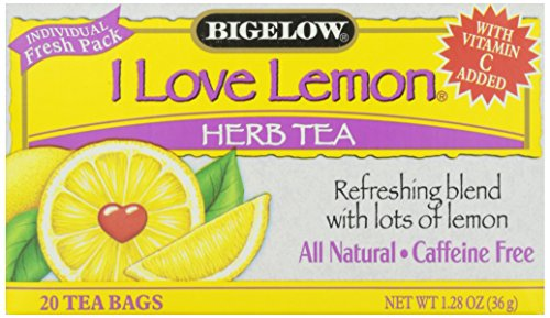 Bigelow I Love Lemon, Herb Tea, 20 tea bags