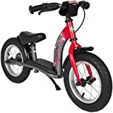 Bikestar 12 Inch (30.5cm) Kids Balance Bike / Kids Running Bike - Classic - Red & Grey