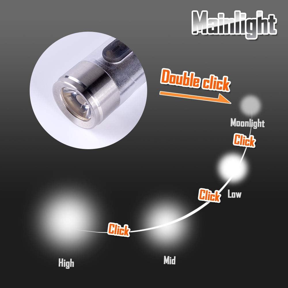 Ambre Jaune Côté Lumière Rovyvon A8x Nichia Rechargeable Lampe De Poche Rouge 450 lm