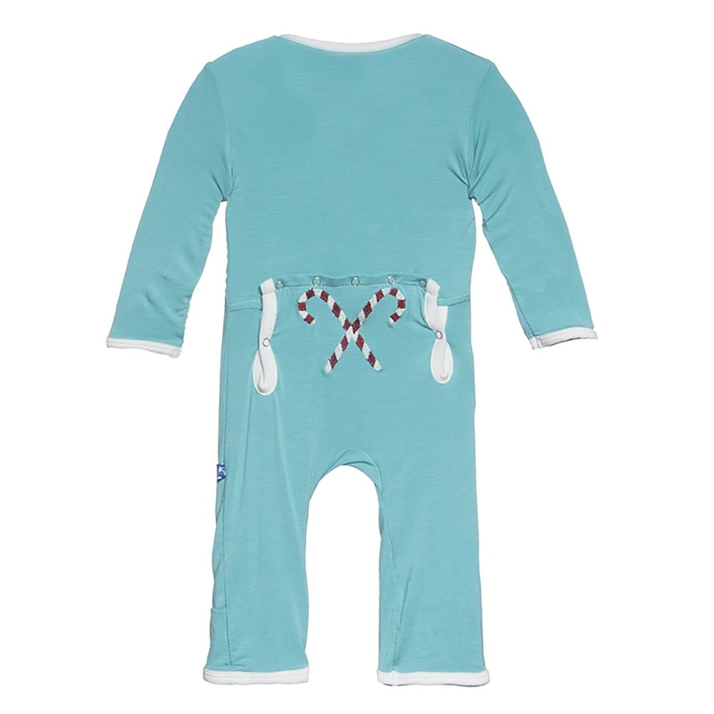KicKee Pants Unisex-Baby Baby Baby Applique Coverall