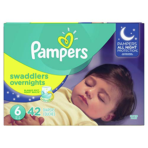 Diapers Size 6, 42 Count - Pampers Swaddlers  Overnights Disposable Baby Diapers, SUPER from Pampers