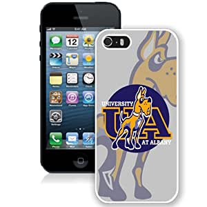 Beautiful Designed With NCAA Colonial Athletic Association CAA Football Albany Great Danes 2 Protective Cell Phone Hardshell Cover Case For iPhone 5S Phone Case White