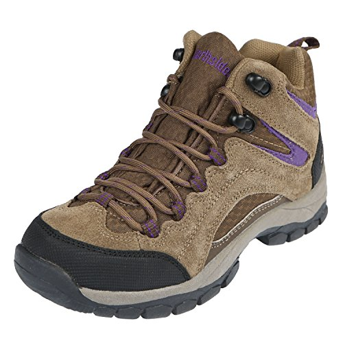 Image of Northside Womens Pioneer Mid Rise Leather Hiking Boot