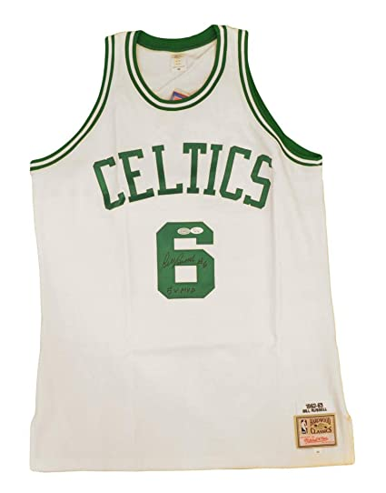 4f6abf61e11 Bill Russell Signed and Inscribed Boston Celtics Jersey. Mitchell and Ness,  JSA at Amazon's Sports Collectibles Store