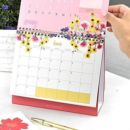 Calendario Takenote Flores - Calendario sobremesa 2020-29 x 21cm ...