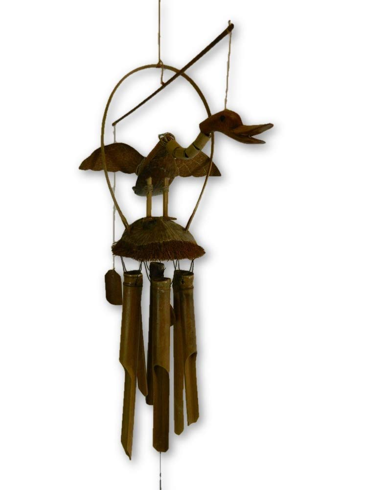 Bamboo Windchime - Hand-Carved Duck Design Thai-Gifts