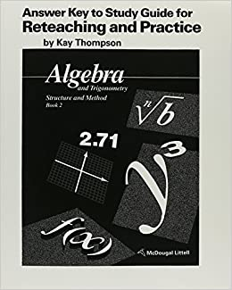 Algebra and Trigonometry - Structure and Method Answer Key