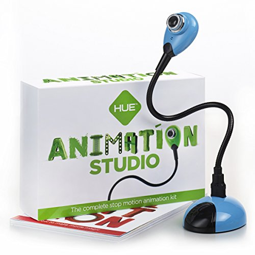 HUE Animation Studio (Blue) for Windows PCs and Apple Mac OS X: complete stop motion animation kit with camera, software and book - Frozen Photography Background