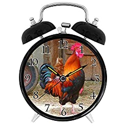 22yiihannz Crowing Rooster - Unique Decorative 4in Alarm Clock.
