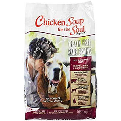 Chicken Soup For The Soul 418217 Grain-Free Beef And Legumes Pet Food, One Size/4 Lb