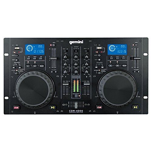 Gemini CDM4000 Dual CD/MP3/USB Mixer Combo Player - ()