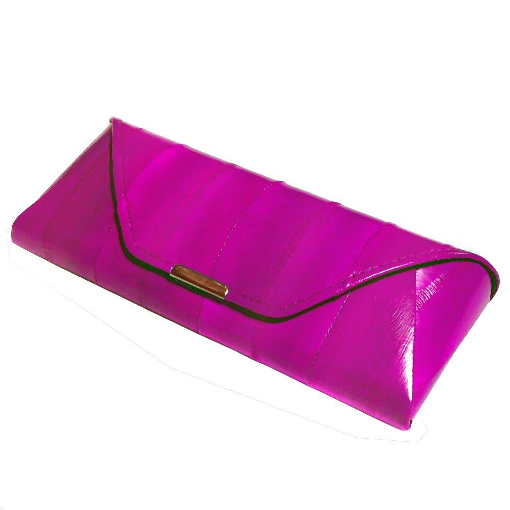 Glasses case, natural genuine eel skin leather case, eyeglass case