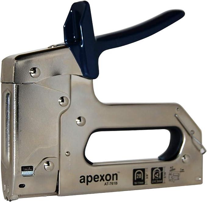 Grapadora Cable + 1.000 Grapas 28/10 mm para Cable Telefónico y ADSL (4,5 mm) modelo APEXON AT-761B (FG 2811) - Profesional para instaladores: Amazon.es: Bricolaje y herramientas