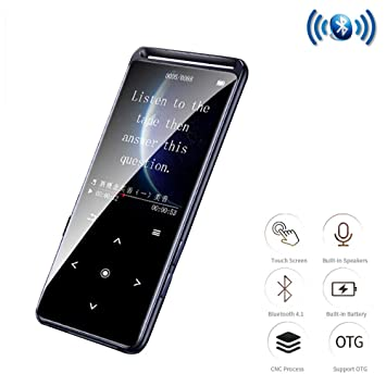 CWHALE Reproductor de MP3 MP4 Bluetooth 5.0 sin pérdida 1.8 ...