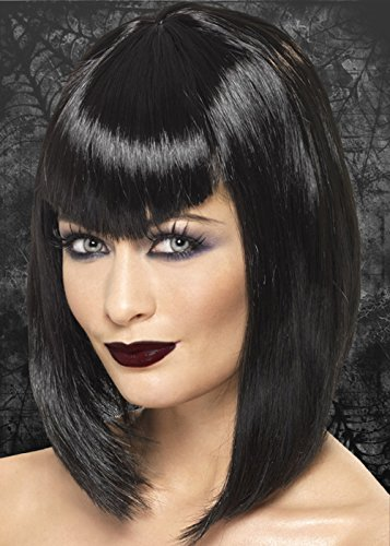 Ladies Black Gothic Vamp Wig -