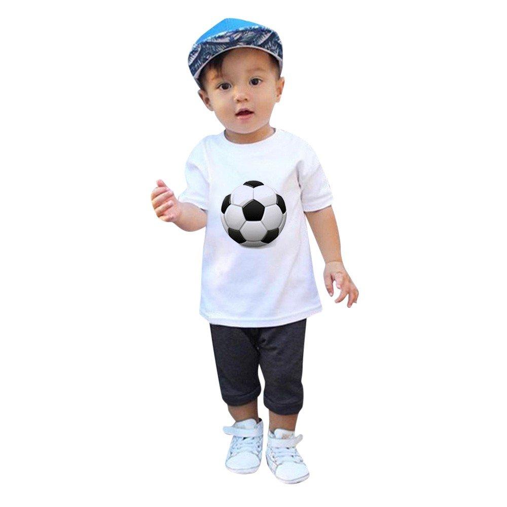 Conjunto Bebé Verano, Subfamily Ropa de Niño VeranoCamiseta de Manga Corta Camiseta de fútbol de Camiseta de fútbol para niños, niñas y niñas.