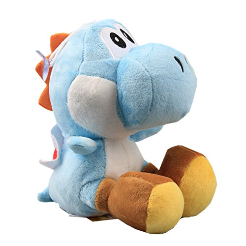 uiuoutoy Super Mario Bros. Light Blue Yoshi Plush Toy Stuffed Aniaml Doll 6