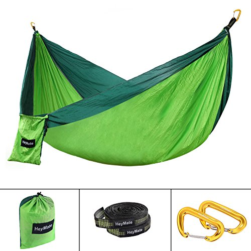 heymate camping hammock   single  u0026 double parachute lightweight nylon outdoor portable camping hammocks with tree straps for backpacking camping hiking     heymate camping hammock   single  u0026 double parachute lightweight      rh   outdoorstore org