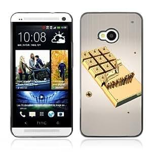 YOYOSHOP [Gold Chocolate] HTC One M7 Case by ruishername