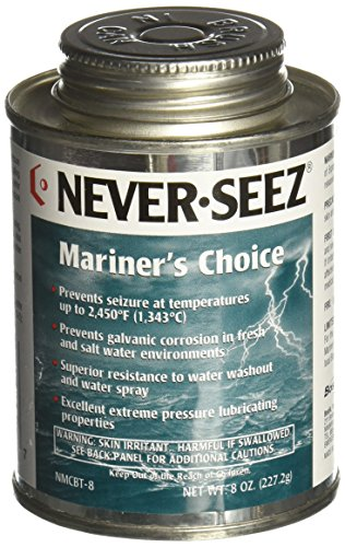 Never-Seez NMCBT-8 Black Gray Mariners Choice Anti-Seize, 8 oz. Brush Top Can