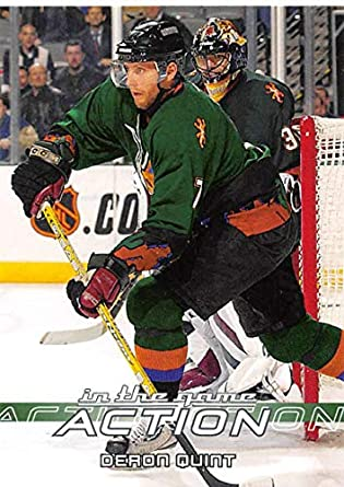 Amazon Com 2003 04 In The Game Action Hockey 481 Deron Quint