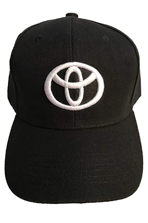 Amazon.com  A Toyota Baseball Cap Hat Black. 3D Emblem. Adjustable. New!   Sports   Outdoors 2e0aa7620ae6