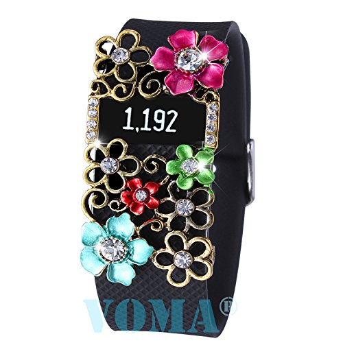 VOMA Fitbit Bling Jewelry Accessory For Fitbit Charge/Fitbit Charge HR(blivt-tqpk)