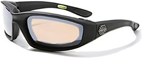 Choppers Wrap Around Biker Mirrored Lens Sunglasses Padded Goggles Motorcycle