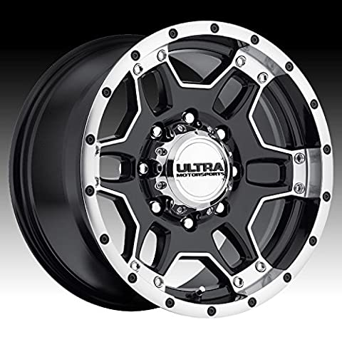 Ultra Mongoose 17 Machined Black Wheel / Rim 5x5.5 with a 20mm Offset and a 107 Hub Bore. Partnumber 178-7985B