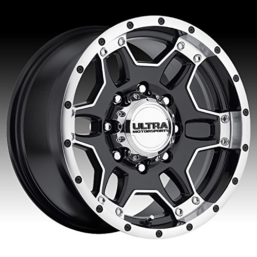 Ultra Mongoose 15 Machined Black Wheel / Rim 5x4.5 with a -19mm Offset and a 82 Hub Bore. Partnumber 178-5865B (1999 Ford Explorer Rims compare prices)
