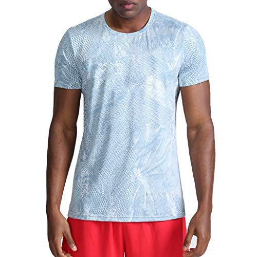 Men's Fitness Fast Drying Camouflage Sports Breathable Short Sleeve T-Shirt Tops