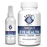 Cleansing Oil Three - Heyedrate Savings Bundle 1-Month Supply of Hypochlorous Eyelid Cleanser and Omega-3 Fish Oil   Clean Eyelids Help Soothe Blepharitis, Dry Eyes, Styes, and Meibomian Gland Dysfunction