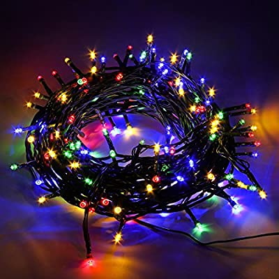ZMKM Super bright Decorative Christmas Lights LED Novelty Fairy String Lights Ambiance Lighting DC 24V Output 200 LED 8 Modes 72ft for Home Weddings Party Patio concerts Garden Decoration (multicolor)